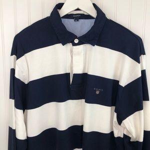 Gant Men's Striped Long Sleeve Rugby Shirt 2XL